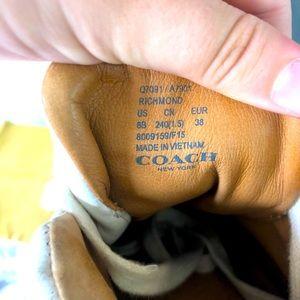 White Hightop designer Coach New York buckle shoes